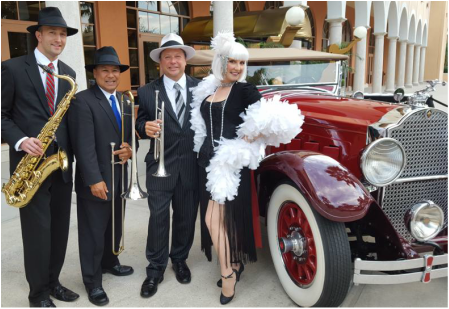 www.orlandoband.com, Gatsby band Clearwater, Florida for 1920's theme Speakeasy and Roaring 1920s theme events.